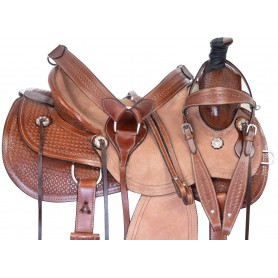 Team Roping Western Cowboy Ranch Work Premium Leather Horse Saddle Tack
