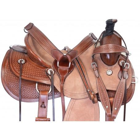 Team Roping Western Cowboy Ranch Work Premium Leather Horse Saddle Tack