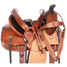 Youth Kids Cowboy Ranch Work Roping Western Rough Out Leather Horse Saddle Tack
