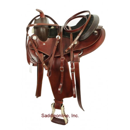 14 Tan Western Pleasure Trail Saddle W Rough Out Seat