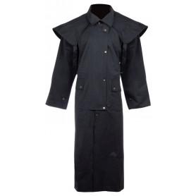 Premium Black Full Length Australian Duster Coat Waterproof Work Jacket