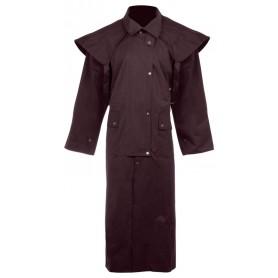 Premium Brown Western Waterproof Work Jacket Full Length Australian Oilskin Duster Coat