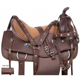 Extra Comfy Western Endurance Trail Riding Synthetic Horse Saddle Tack Set