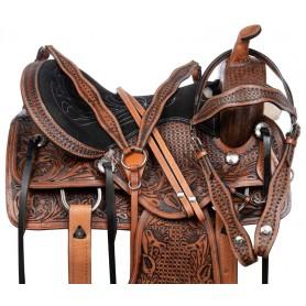 New Classic Western Pleasure Trail All Purpose Leather Horse Saddle Tack Set