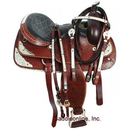 16 Mahogany Western Show Trail Saddle W Tack