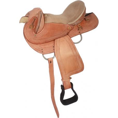 16 17 Comfortable Western Treeless Saddle Tack