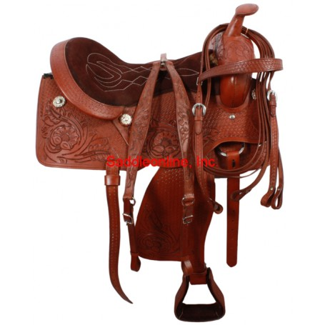 Oiled Brown Pleasure Trail Saddle Blevins Buckles Tack