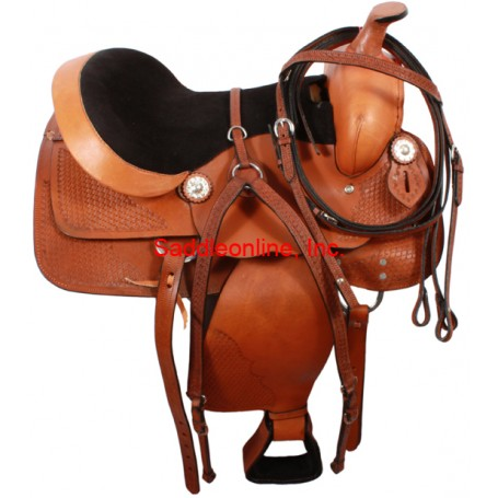 Ranch Work Or Trail Saddle & Headstall Tack 16 17