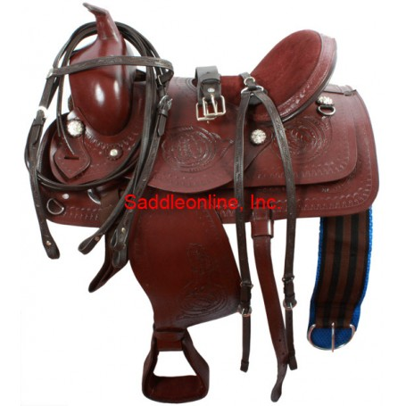 Trail Pleasure Work Saddle Rough Out Seat 16