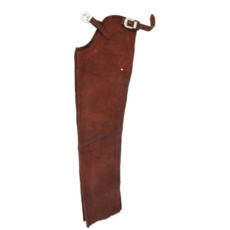 Brown Leather Western Suede Chaps M L