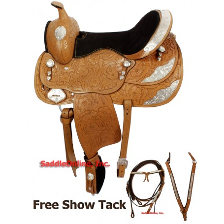17 Royal Western Pleasure Silver Show Saddle Tack