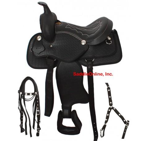 Kids Pony Saddle Tack Headstall Reins 10
