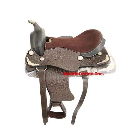 NEW GORGEOUS SILVER SHOW WESTERN HORSE SADDLE