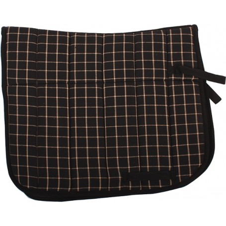 Plaid Fleece Padded English Pad