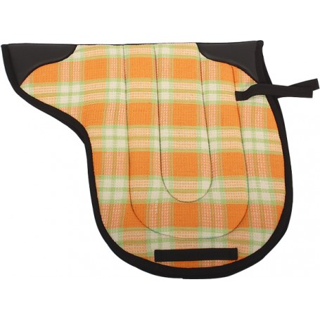 Orange English Quilted Padded  Pad