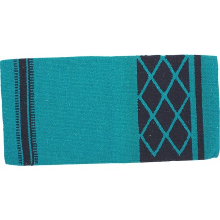 Turquoise Cutting Reining Western Wool Show Blanket Pad