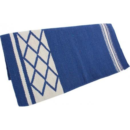 Blue Cutting Reining Western Wool Show Blanket Pad