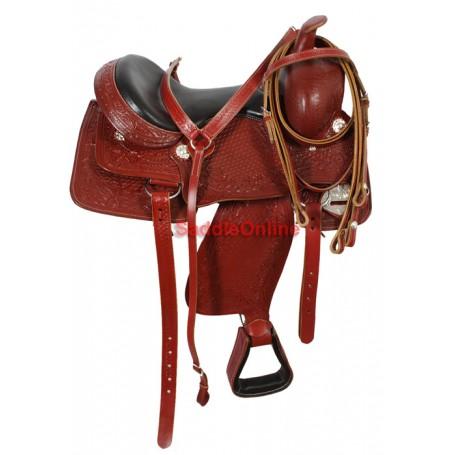Custom Hand Made Trail Work Leather Saddle Tack 15