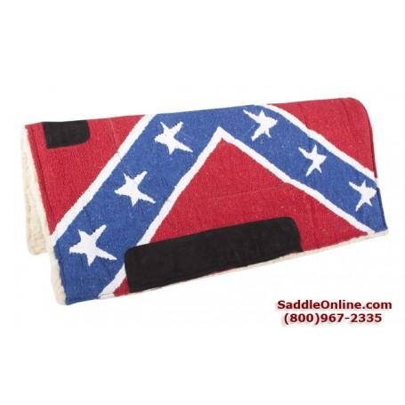 New Rebel Confederate Flag Fleece Lined Saddle Pad