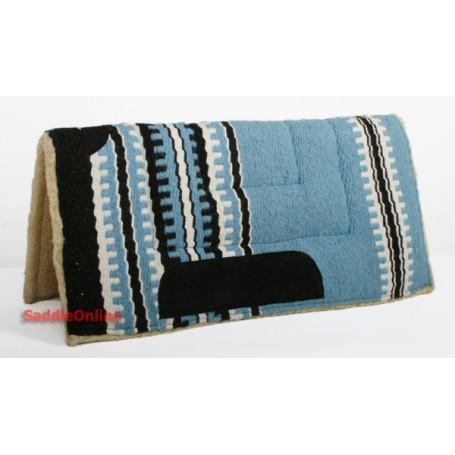 Premium Blue Fleece Lined Saddle Pad
