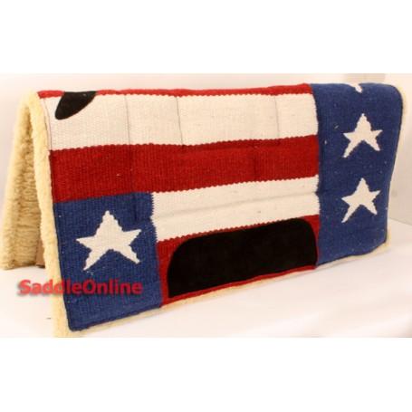 Premium USA Flag Fleece Lined Saddle Pad