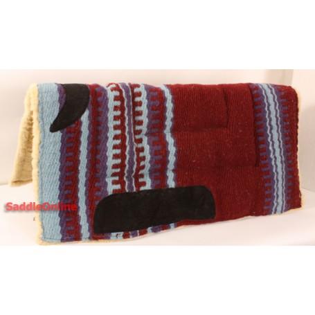 Mahogany Fleece Linned Saddle Pad W Leathers
