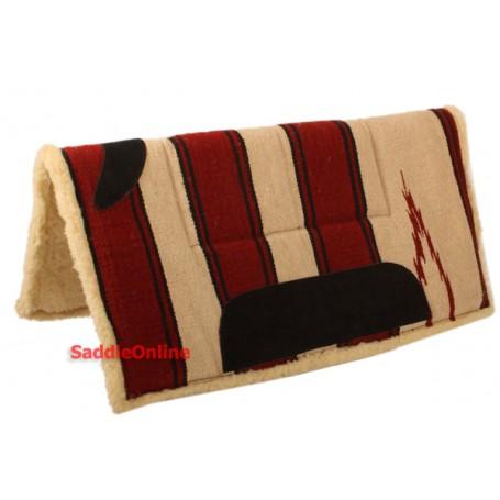 Western Hand Woven Pad With Soft Fleece Underside
