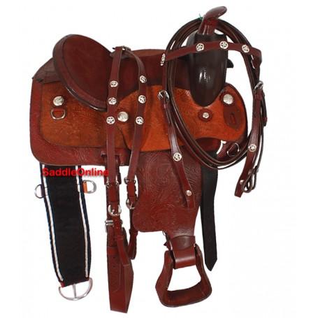 Brown Kids Pony Youth Saddle & Tack 14