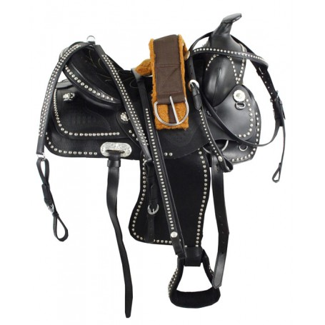 Black Parade Show Saddle Tack Set 15-18