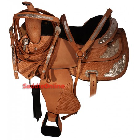Premier Series Old Style Western Show Saddle Tack 16 17