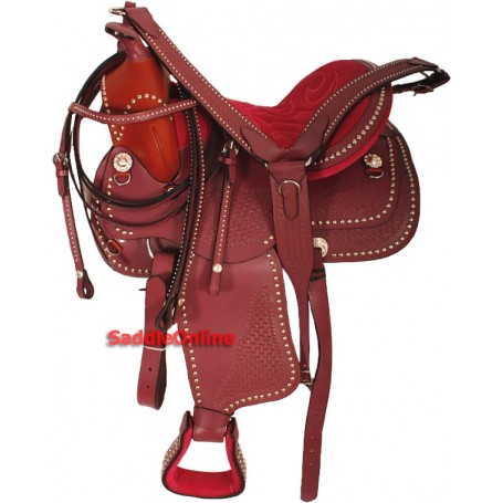 Pretty Pink Studded Show Saddle Tack 14 15