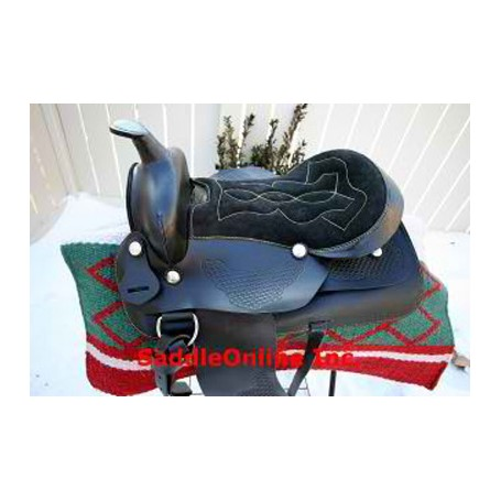 New 16 black  western horse saddle pleasure ranch