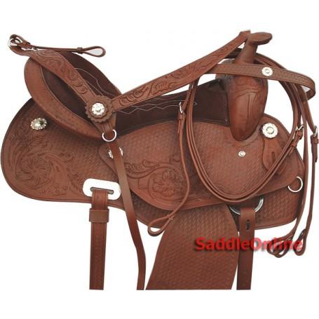 Premium Western Barrel Racing Saddle Round Skirt 15- 17
