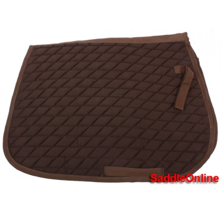 Brown Square English Pad For All Purpose Riding