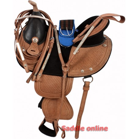 New Natural 16 Treeless Saddle Tack Package