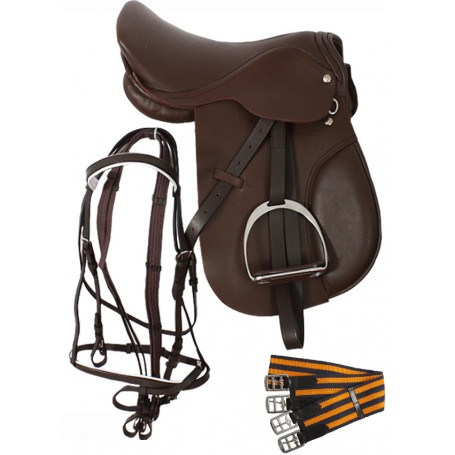 English Tack Package All Purpose Wide Tree Saddle 15 18