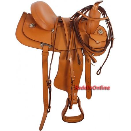 Amazingly Comfortable Tan Trail Pleasure Horse Saddle 16