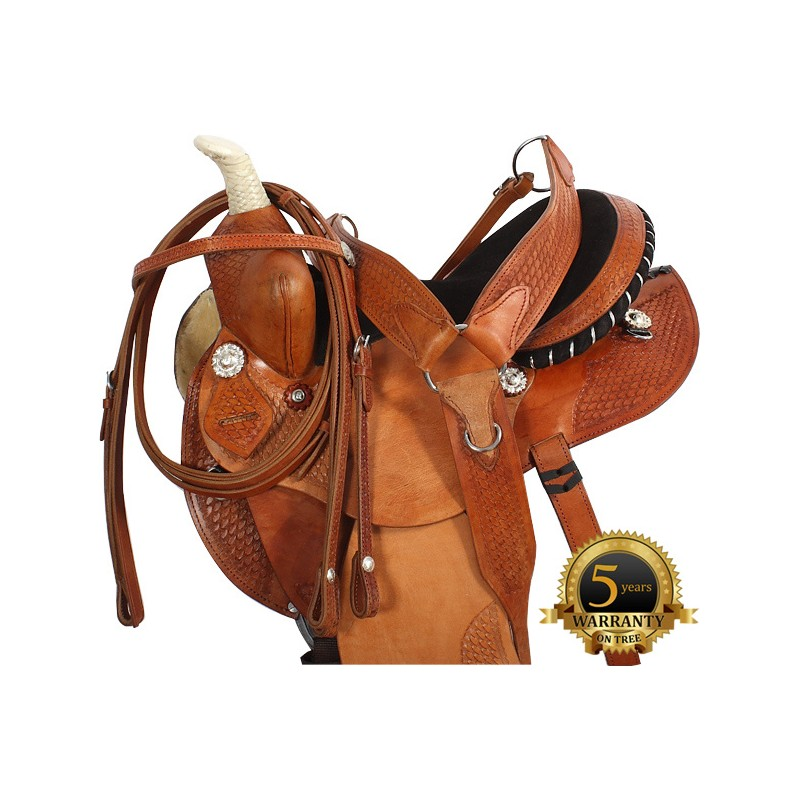 Western Saddles & Tack 15 16 17 WESTERN BARREL RACING PINK SYNTHETIC