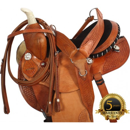Natural Barrel Racing Saddle Tack Package 14