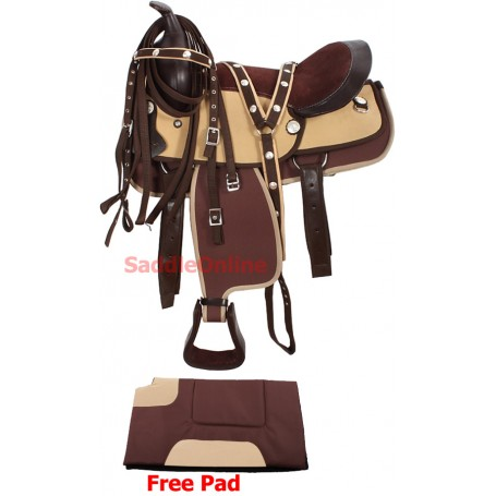 New 10 Pony Mini Beautiful Brown Saddle Tack Pad