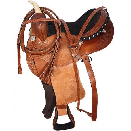 Used Western 14 Barrel Racing Saddle Tack Set