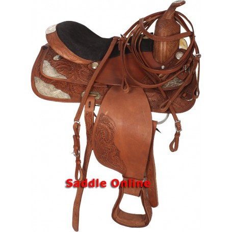 New Western Show Saddle Brown Silver Show Set 16