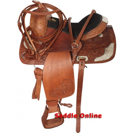 New Western Show Saddle Brown Silver Show Set 15