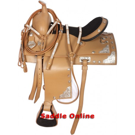 15.5 Western Show Saddle Show Tack Set