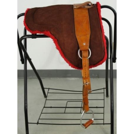 Leather Bareback Pad With Stirrups Girth