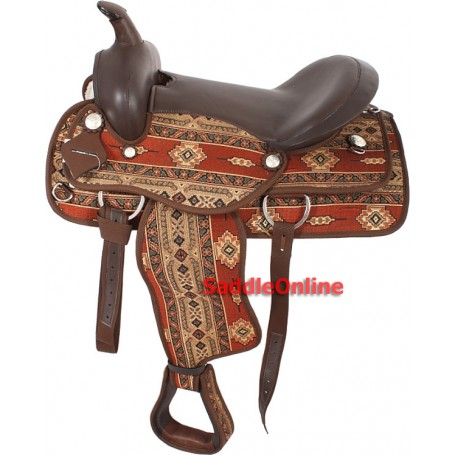 New Arabian Synthetic 16 Western Show Saddle