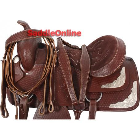 New Western 17 Hand Tooled Show Saddle Tack