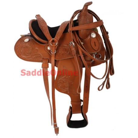 Kids Youth 12 Pony Western Barrel Racing Saddle