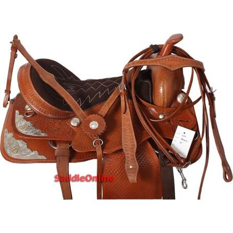 Premium Tan Western Show Saddle Tack 16