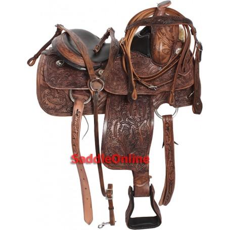 Custom Leather Western Horse Saddle Tack 15